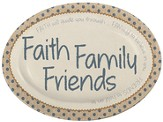 Faith, Family, Friends Mini Plate with Easel