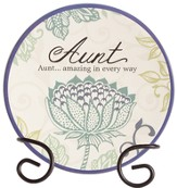 Aunt, Amazing In Every Way Mini Plate