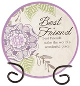 Best Friend, Make the World A Wonderful Place Mini Plate