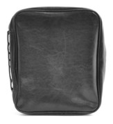 Leatherette Bible Cover, Black-XXL (DAKE size)