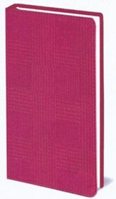 The Message Compact Bible--soft leather-look, textured pink