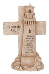 Lighthouse, I Am the Light Pedestal Cross