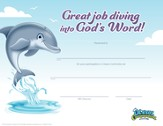 Ocean Commotion VBS Certificate of Completion (Pack of 10)