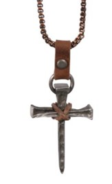 Nail Cross On Copper Necklace