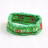 He Loves Me, Canvas Bracelet
