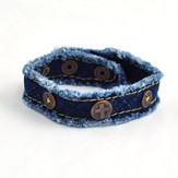 Denim Cross, Canvas Bracelet