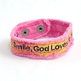 Smile, Canvas Bracelet