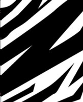 The Message // REMIX 2.0--soft leather-look, zebra print