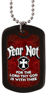 Fear Not, Dog Tag Necklace