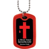 Blood Donor, Dog Tag Necklace