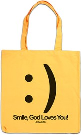 Smile, God Loves You Tote - Slightly Imperfect