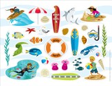 Ocean Commotion VBS Stickers (Pack of 10)