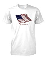 States One Nation, Flag Shirt, White, Medium