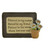 Blessed Be My Mother Plaque - Slightly Imperfect
