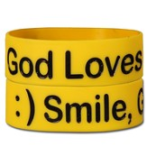Smile God Loves You Silicone Bracelet