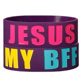 Jesus Is My BFF Silicone Bracelet