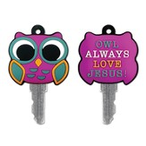 Owl Always Love Jesus Key Cover