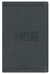 The Message Compact Bible, Soft Imitation Leather, Graphite