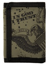 In God I Trust Canvas Wallet