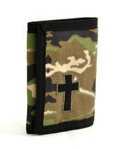 Camo Trifold Wallet with Cross