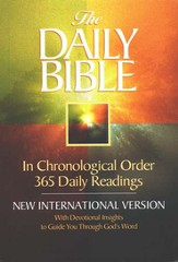 NIV Daily Bible, Compact Edition, Softcover  - Slightly Imperfect