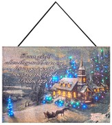 Sunday Evening Fiberoptic Wall Hanging by Thomas Kinkade