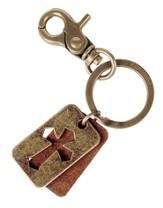 Leather Dogtag Key Chain