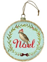 Noel, Glass Ornament
