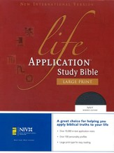 NIV Life Application Study Bible, Large Print, Bonded leather, Navy blue 1984, Case of 8