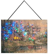 Peaceful Retreat Fiber Optic Wallhanging, Thomas Kinkade