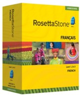 Rosetta Stone French Level 1,2 & 3 Set with Audio Companion Homeschool Edition, Version 3