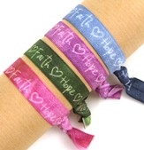 Faith, Hope, Love, Stretch Tie Bracelets