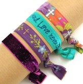 Love Never Fails, Stretch Tie Bracelets