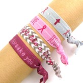 Pink Ribbon, Stretch Tie Bracelets