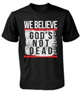 Tshirt We Believe God's Not Dead Men Short Sleeved Large Black