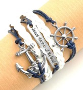 Anchor, Multi-Strand Bracelet