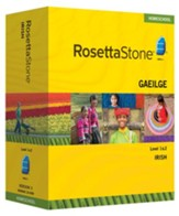 Rosetta Stone Gaelic Irish Level 1 & 2 Set with Audio Companion Homeschool Edition, Version 3