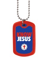 Know Jesus, Tag Necklace