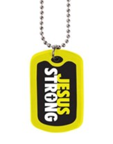 Jesus Strong, Tag Necklace