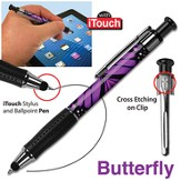 Animal Print Pen, with iTouch, Cross, Butterfly