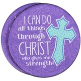I Can Do All Things Through Christ Auto Coaster