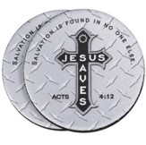 Jesus Saves Cross Auto Coaster