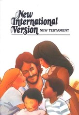 NIV Pocket-Thin New Testament, illustrated children's New Testament - Slightly Imperfect