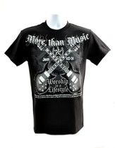 Rock Guitar, More Than Music Shirt, Black, Large
