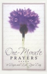 One-Minute Prayers to Begin and End Your Day Hardcover (padded with ribbon)