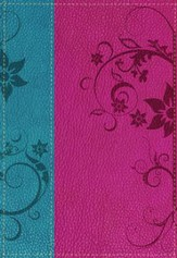 La Biblia De Promesas (azul y rosa), Promise Bible for Young Women, Imitalion Leather (blue & pink)