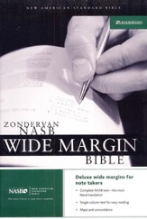 NAS Wide Margin Bible, Hardcover