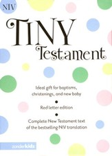 NIV Tiny New Testament,  Imitation leather, white - Slightly Imperfect