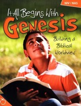 It All Begins with Genesis: Building a Biblical  Worldview Teacher's Edition with CD-Rom (NIV/NAS)