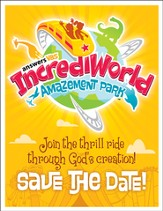 IncrediWorld Amazement Park VBS Save the Date Postcards (Pack of 40)